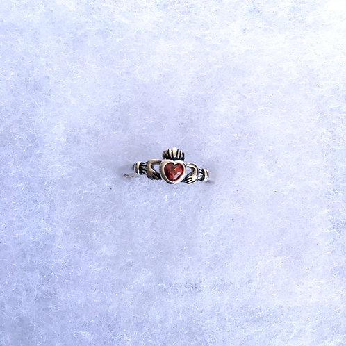 Ruby claddagh ring