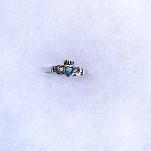 Topaz claddagh ring