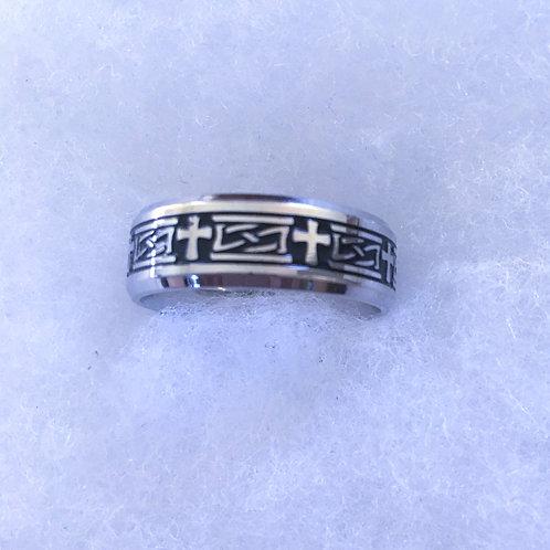 Crosses band ring