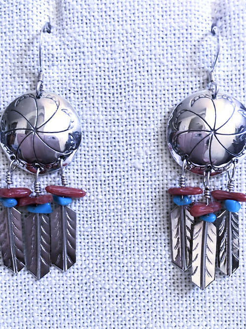 Feathers dangle earrings