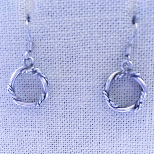 Twist rope earrings