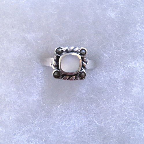 Mother of pearl w/ marcasite