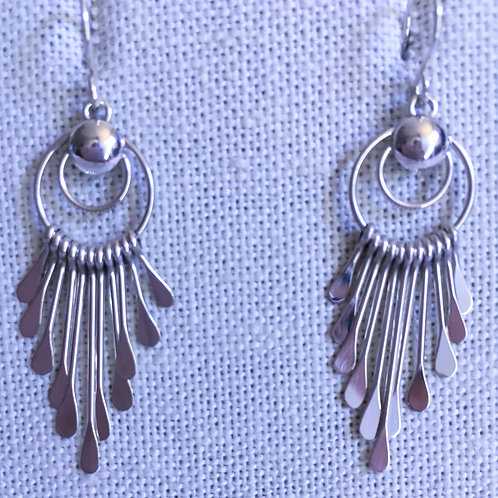 Plain paddle earrings