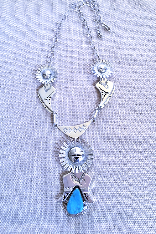 Sunface Kachina Necklace