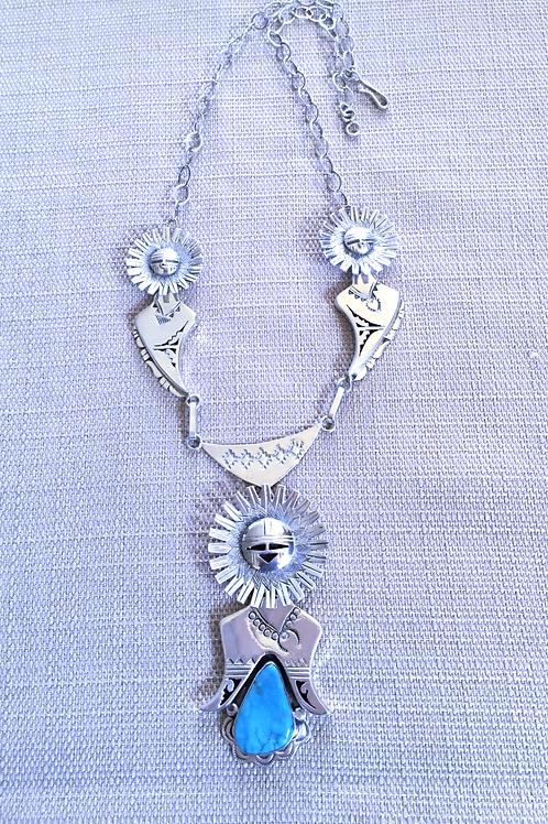 Sunface Kachina Necklace