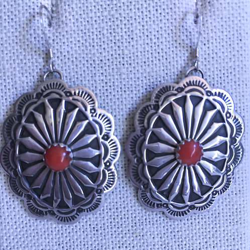 Scallop  coral earrings