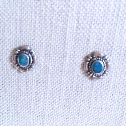 Oval post earring