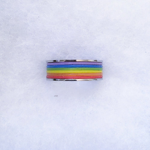 Rainbow band ring