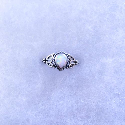 Pear shape rings