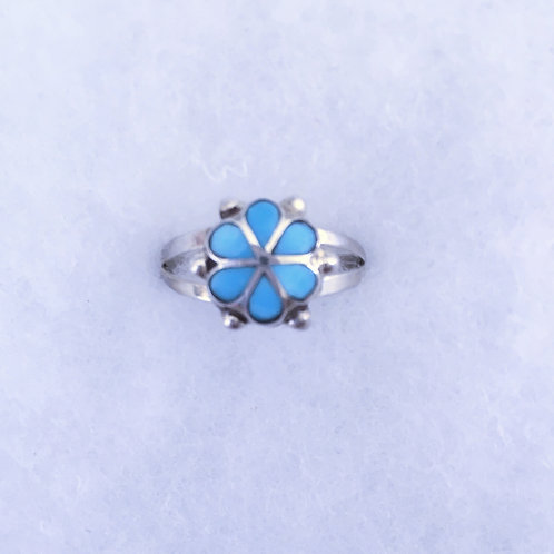 Inlay flower ring