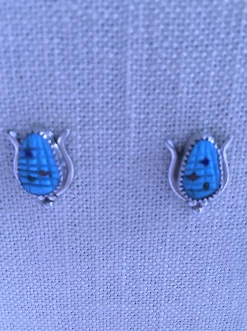 Corn post earrings