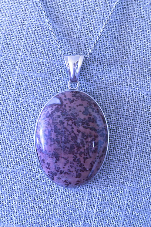 Speckled brown agate