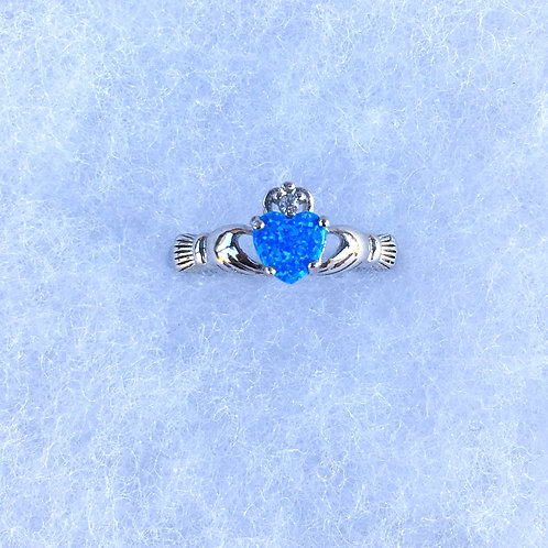 Blue claddagh ring