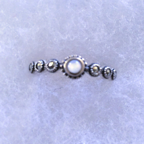 Marcasite w/ mother of pearl