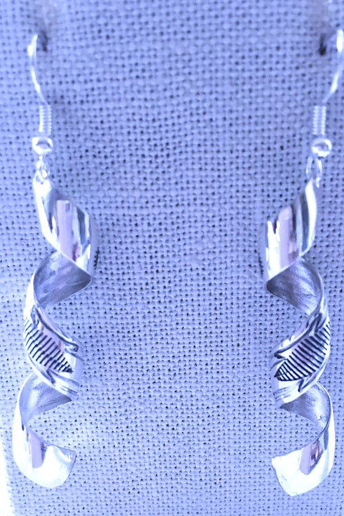 Twirl stamp earrings