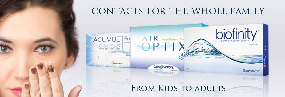 Contacts for the whole family; from kids to adults! We accept SoonerCare and CommunityCare in Tulsa.