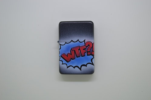 Custom Airbrushed Lighter WTF