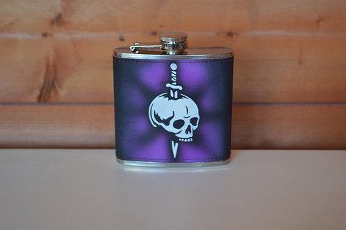 6oz Custom Airbrushed hip-flask