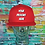 Thumbnail: Adult Custom Airbrushed Cap Red/Red
