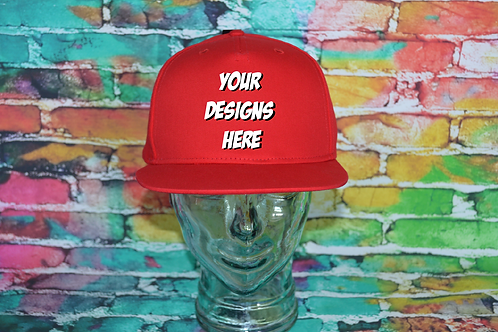 Adult Custom Airbrushed Cap Red/Red
