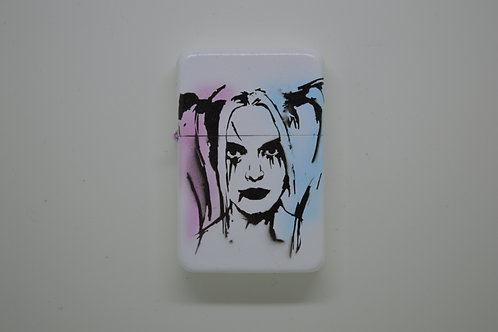 Custom Airbrushed Harley Quin