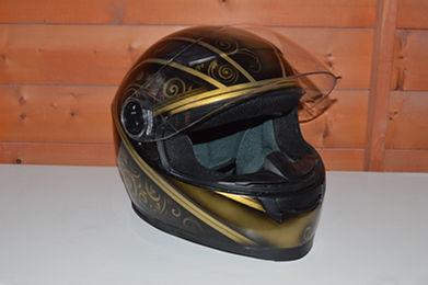 Custom Airbrushed motor bike helmet front