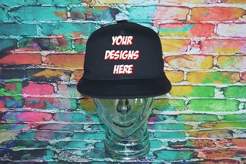 Adult Custom Airbrushed Cap Black/Back 6010