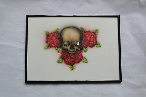 Skull on roses