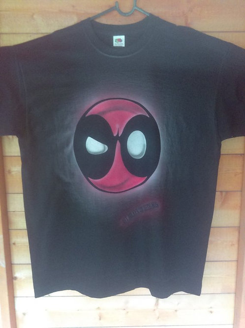 Dead Pool Custom Airbrushed T-shirt
