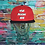 Thumbnail: Adult Custom Airbrushed Cap Red/Black