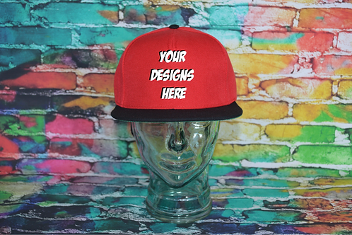 Adult Custom Airbrushed Cap Red/Black