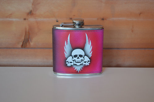 6oz Custom Airbrushed hip-flask