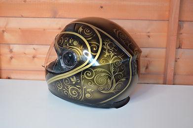 Custom Airbrushed motor bike helmet back DSC_0008.JPG