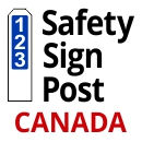Safety Sign Post