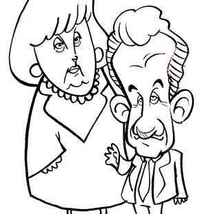 Angela Merkel e Sarkosy