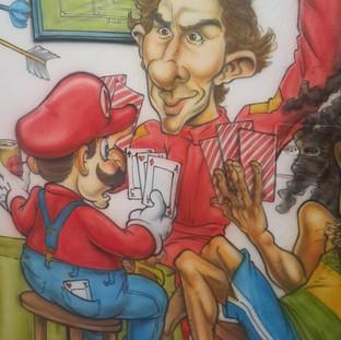 Ayrton Senna, Mario Bros jogando truco