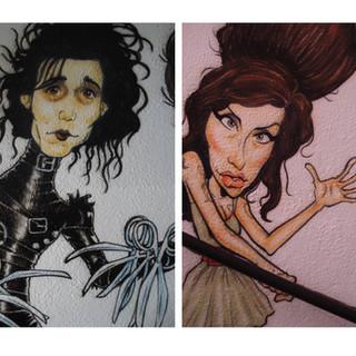 Detalhe - Edward Mãos de Tesoura e Amy Winehouse