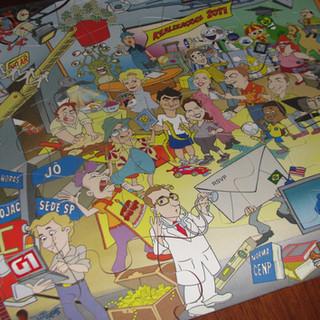 Ilustração para ser transformada em quebra-cabeças gigante para a TV Globo