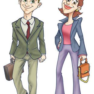 Personagens criados para TV Globo