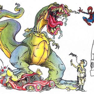 Ilustração dinossauro