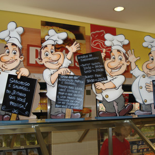Chefs pintados para supermercado