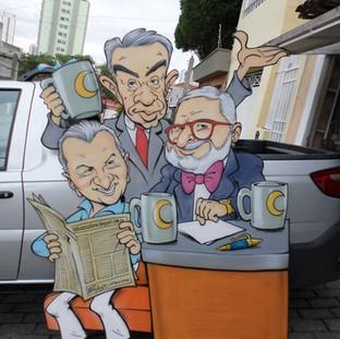 Chico Anysio, Carlos Alberto de Nóbrega e Jô Soares