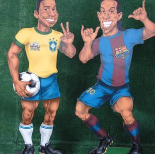 Pelé e Ronaldinho Gaúcho