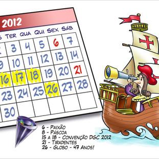 Ilustração para calendário da TV Globo