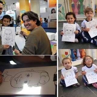 Caricaturas feitas em papel A4