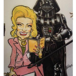 Detalhe - Hebe Camargo e Darth Vader