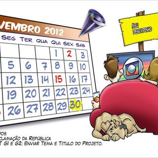 ustração para calendário da TV Globo