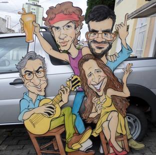 Caetano, Cazuza, Bethania e Renato Russo