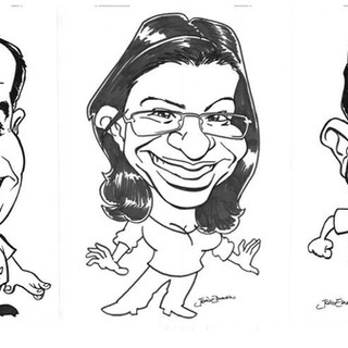 Caricaturas feitas para Telefonica/ Vivo