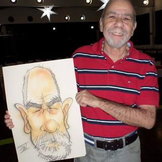 Caricatura feita em papel A3